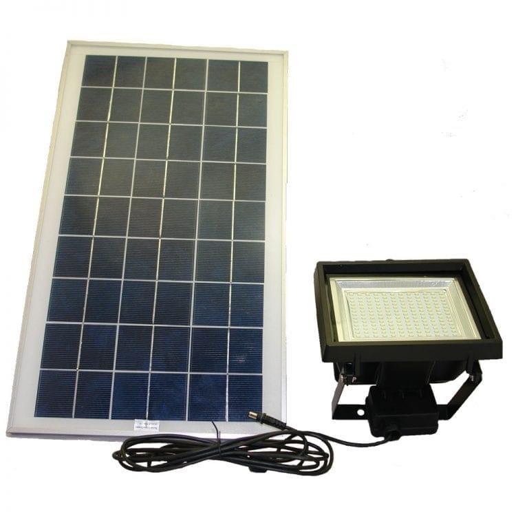 Faro ad energia solare per illuminazione esterna con pannello fotovoltaico