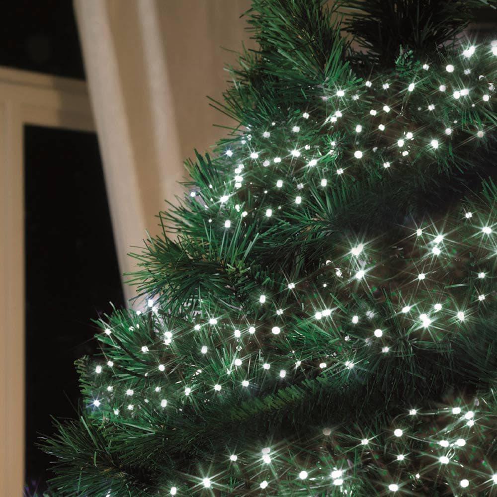 Pannello Solare Per Luci Natale : Luci di natale ad energia solare led bianchi