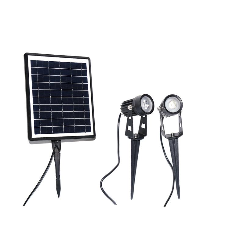 faro led con pannello solare