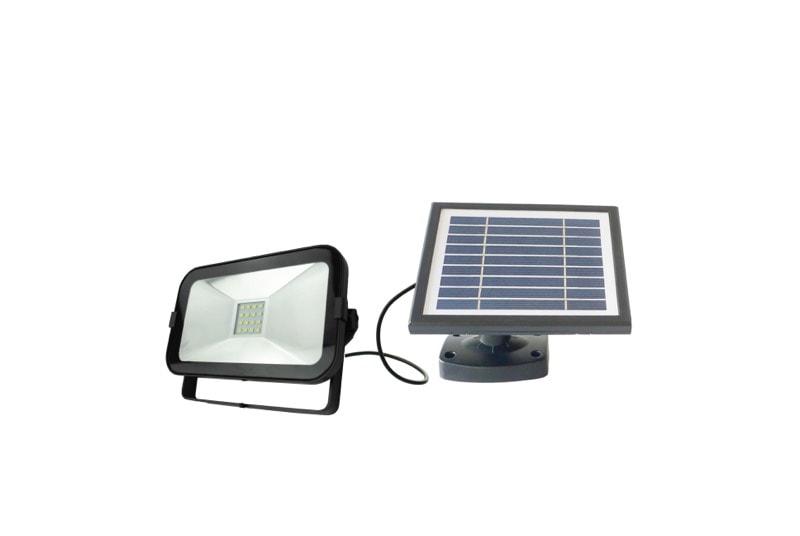 Plafoniera Da Esterno Con Crepuscolare : Faretto led da esterno con pannello solare fotovoltaico ecoworld