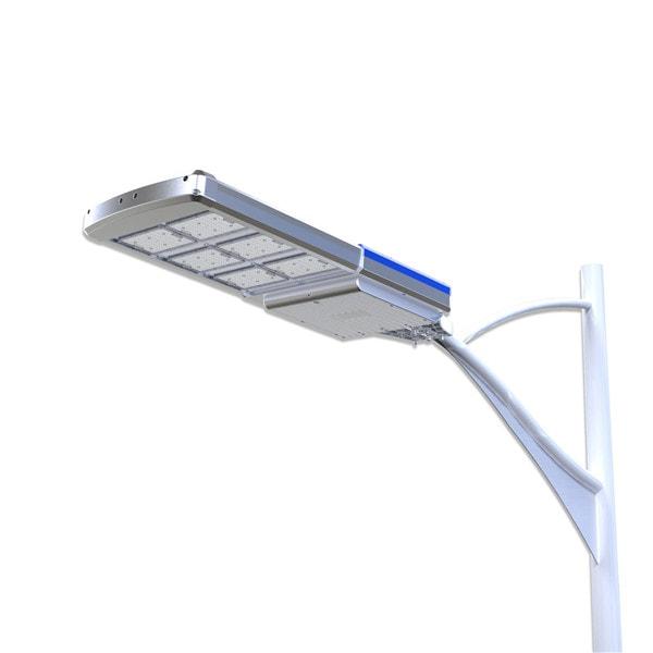 Lampione stradale solare, pannello fotovoltaico incorporato, batteria interna, sensore crepuscolare