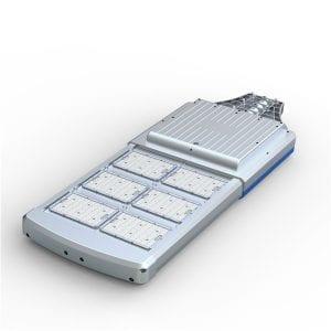 Lampione stradale energia solare con pannello fotovoltaico, batteria interna, 4000 lumen
