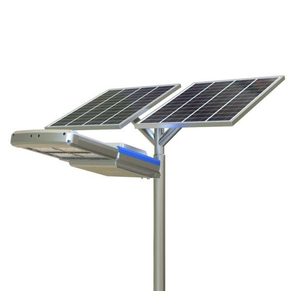Lampione Con Pannello Solare : Lampione stradale ad energia solare pannello fotovoltaico