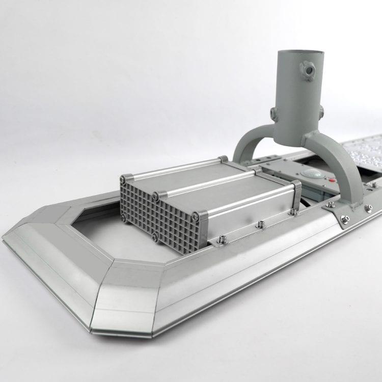 Batteria Litio lampione solare dettaglio