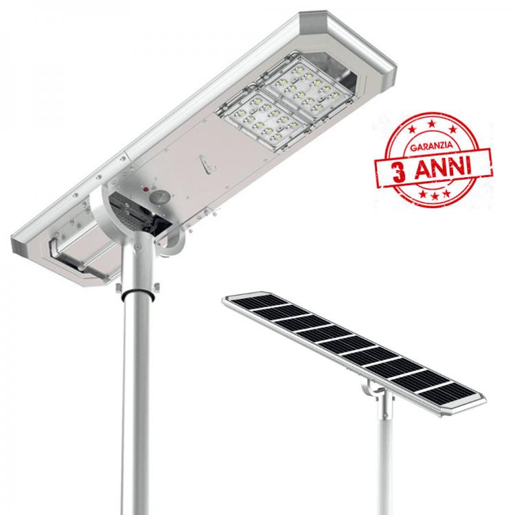 lampione ad energia solare led con pannello fotovoltaico