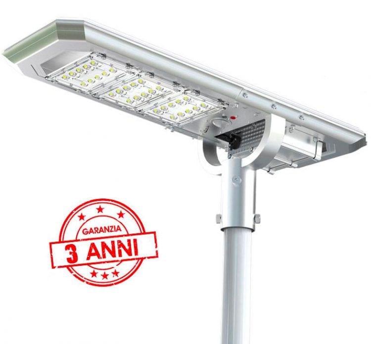 Lampione ad energia solare 3000 lumen con 3 anni di garanzia