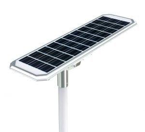 Lampione led solare vista del pannello fotovoltaico