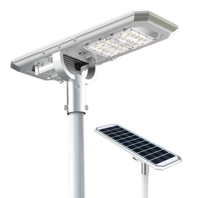 Lampione fotovoltaico 2000 lumen per giardino