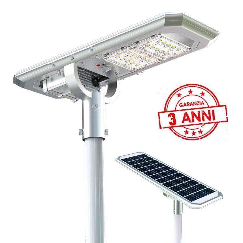 Lampione led solare 2000 lumen con 3 anni di garanzia
