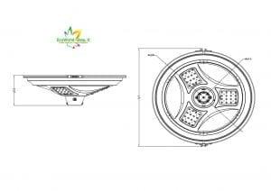 misure lampione solare illuminazione a 360°