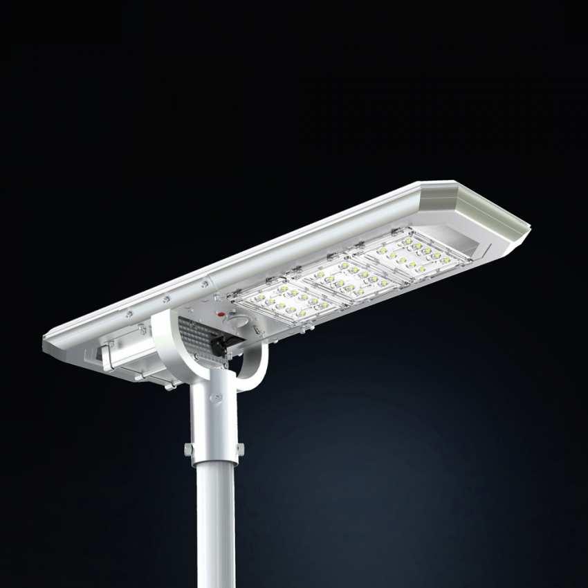 Lampione solare led 3000 lumen da esterno potente for Illuminazione a led