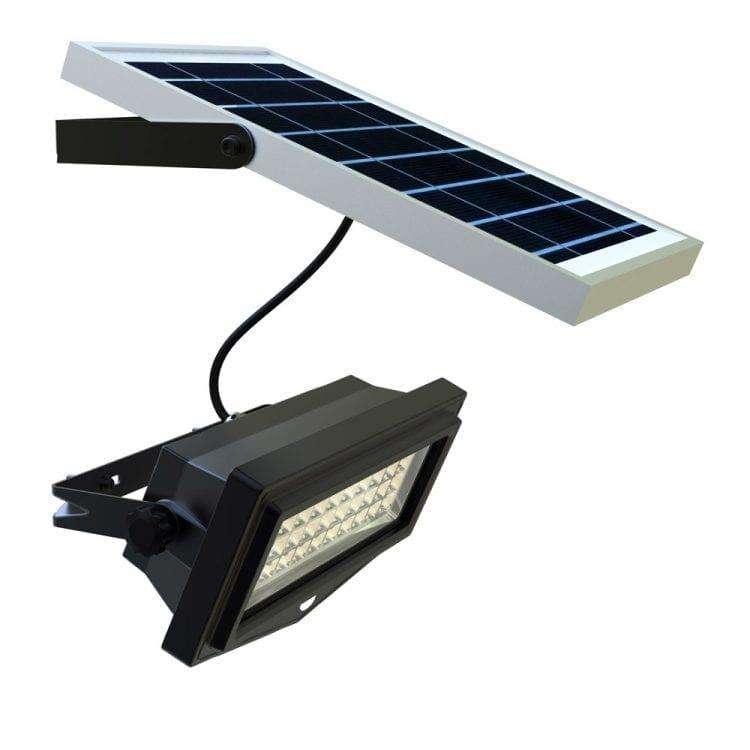 Faro energia solare con pannello fotovoltaico