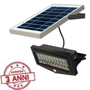 Faretto solare 1000 lumen - 50 watt - 3 anni garanzia