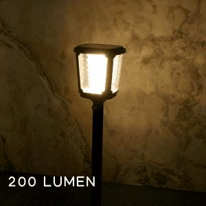 massima luminosità del lampioncino ad energia solare