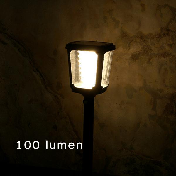 minimia luminosità del lampioncino ad energia solare 100 lumen