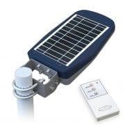 Lampione Giardino Pannello Fotovoltaico Orientabile e Telecomando