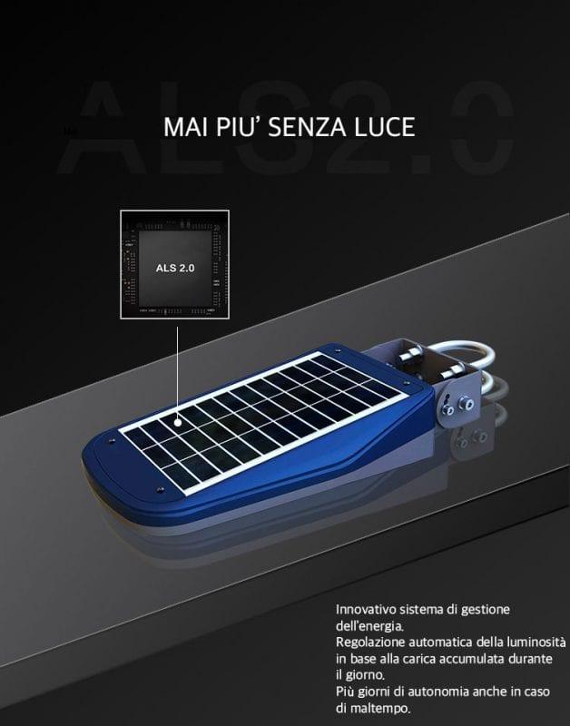 Tecnologia di funzionamento del lampione solare 1000 lumen