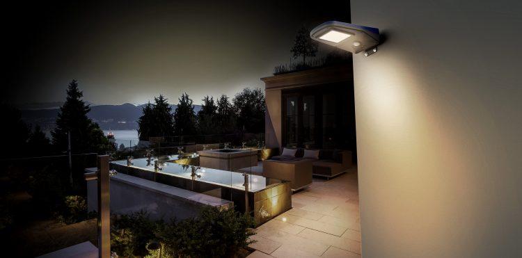 lampione solare con sensore di moviemnto 2000 lumen