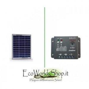 Kit pannello fotovoltaico e regolatore di carica