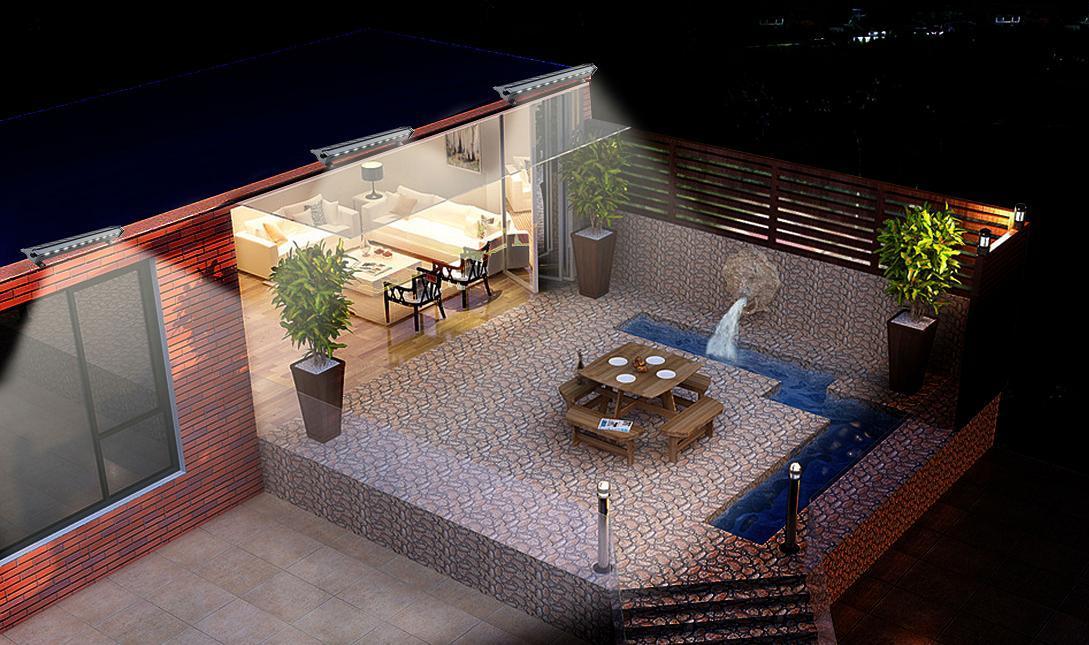 Faro solare a led per esterno ideale per insegne ecoworld shop