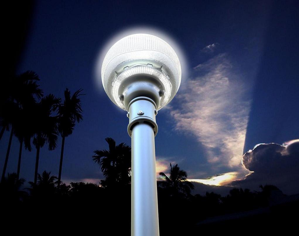 Lampione energia solare a led ecoworld for Lampioni per esterno