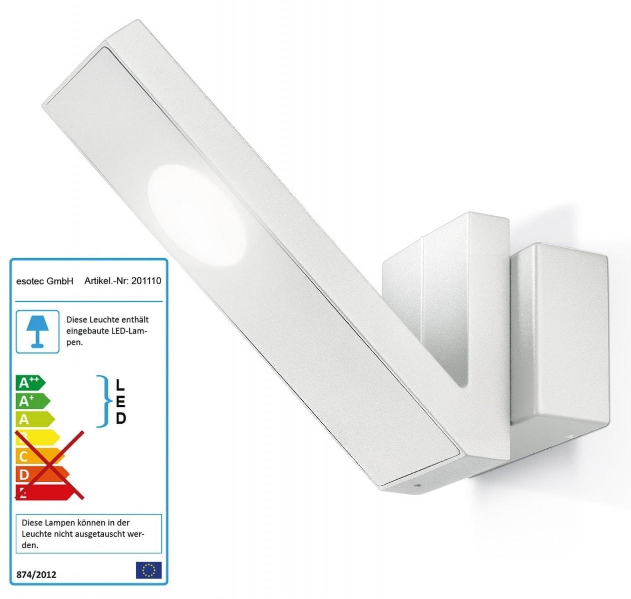 Applique da esterno led con doppia fonte di luce e 180 lumen sia verso l' alto che verso il basso.