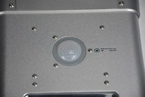 Lampione solare dettaglio sensore di movimento