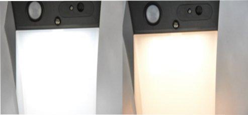 Colore della luce della lampada da parete solare bianco freddo e bianco caldo