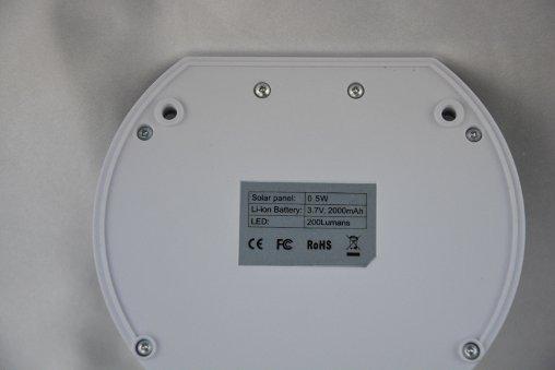 Lampada applique da esterno ad energia solare a led con sensore di movimento ebay - Lampada ad energia solare da esterno ...
