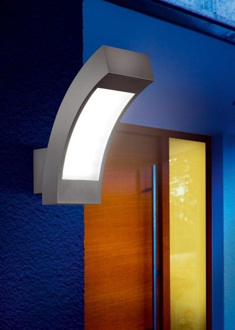 Applique led, colore della luce bianco freddo, colore della lampada antracite.