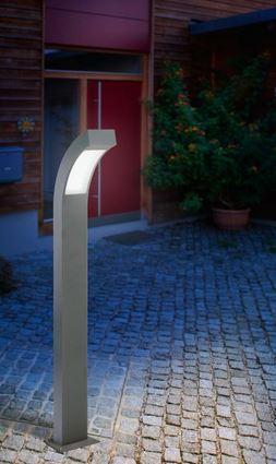lampioncino da giardino con lampioncino a led, altezza 100 cm