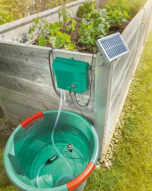 Sistema di irrigazione solare water drops ecoworld for Pompe x laghetti
