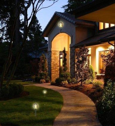 Lampioni solari illuminazione faretti e lampioni - Illuminazione da giardino solare ...