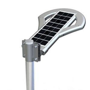 lampione con pannello solare incorporato da 12watt