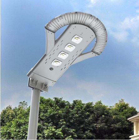 lampione da esterno con pannello solare da 12watt, flusso luminoso 2500 lumen