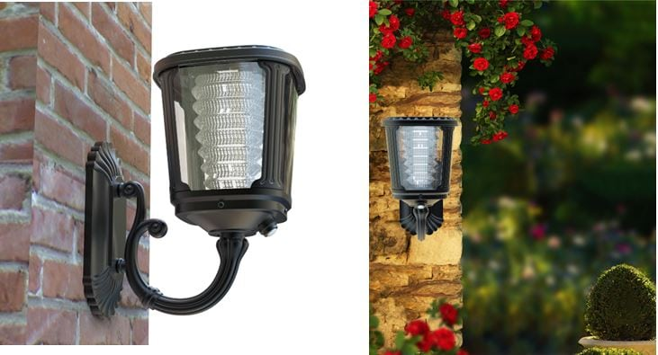 Applique ad energia solare per illuminazione esterna