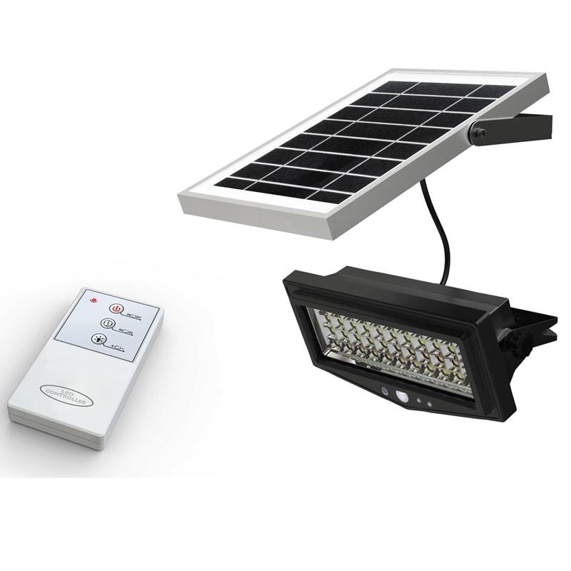 Faro Led Con Pannello Solare : Faro con pannello solare e telecomando ecoworld shop