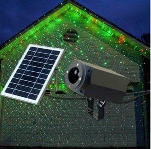 Proiettore laser luci natalizie con pannello solare
