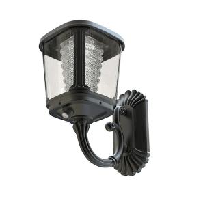 Lampada con pannello solare incorporato, sensore di movimento e sensore crepuscolare