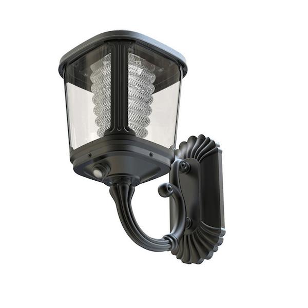 Luce Per Esterno Con Pannello Solare.Lampada Da Parete Ad Energia Solare Luce Calda 400 Lumen
