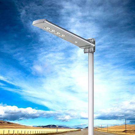 Lampione ad energia solare con pannello solare incorporato e telecomando