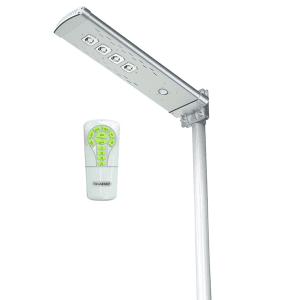 Lampione a Led da esterno con pannello fotovoltaico, sensore crepuscolare e sensore di movimento
