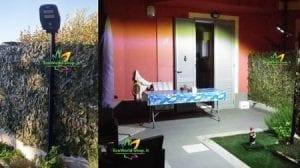 Iluminazione giardino e spazio esterno di abitazione con lampione ad energia solare