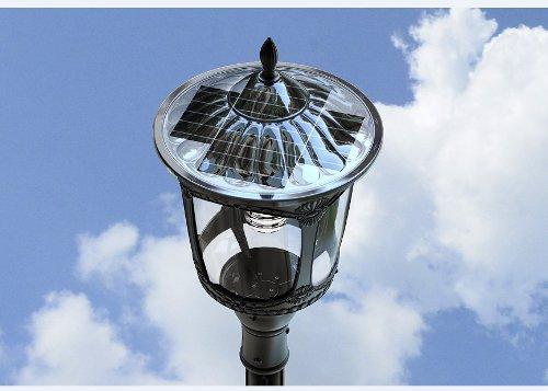 Lampione ad energia solare con pannello fotovoltaico, sensore di movimento
