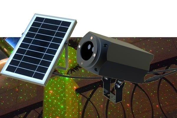 Magia di stelle ad energia solare per natale