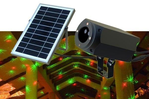 Proiettore luci natalizie con pannello fotovoltaico