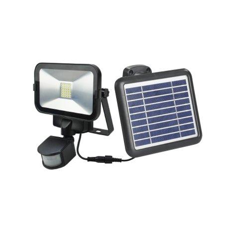 Faretto con pannello solare sensore movimento