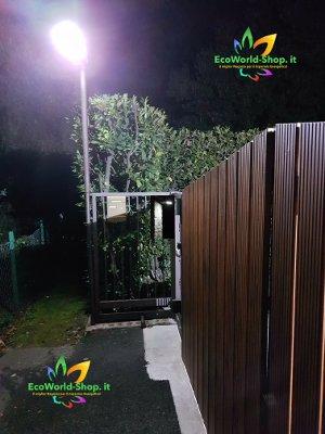 Lampione solare 1000 lumen illuminazione cancello