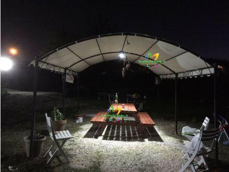 Faro a led solare per esterno lumen ecoworld shop