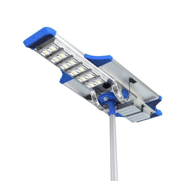 lampione solare stradale led dettaglio parte inferiore 6000 lumen